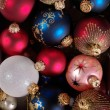 Decoration balls as Christmas background — Stock Photo