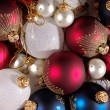 Decoration balls as Christmas background — Stock Photo #1009159