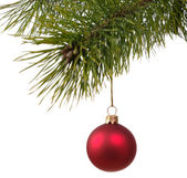 χριστούγεννα διακόσμηση μπάλα για το firtree — Stock fotografie