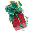 Royalty-Free Stock Photo: Gift box with ribbon on white. Is not is
