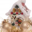 Xmas still-life on white. is not isolate — Stock Photo