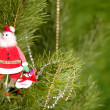 Xmas still-life with fir tree and toys — Stock Photo #1018512