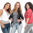 Young teens posing on white. Is not isol — Stock Photo #1021965