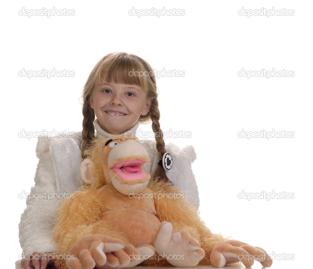 Young smiling girl portrait. Not isolated — Stock Photo #1020947