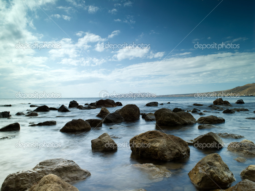 Sleeping sea under the blue sky — Stock Photo #1026217