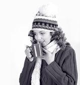 Woman portrait. Cold Flu concept — Stock Photo