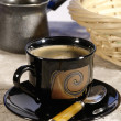 Morning coffee. Cup of espresso coffee p — Stock Photo