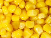 Canned corn as is distributed on a plane — Stock Photo