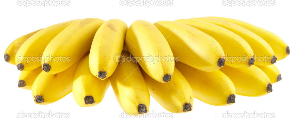 Bunch of Bananas. Isolated on white with clipping path — Stock Photo #1063839