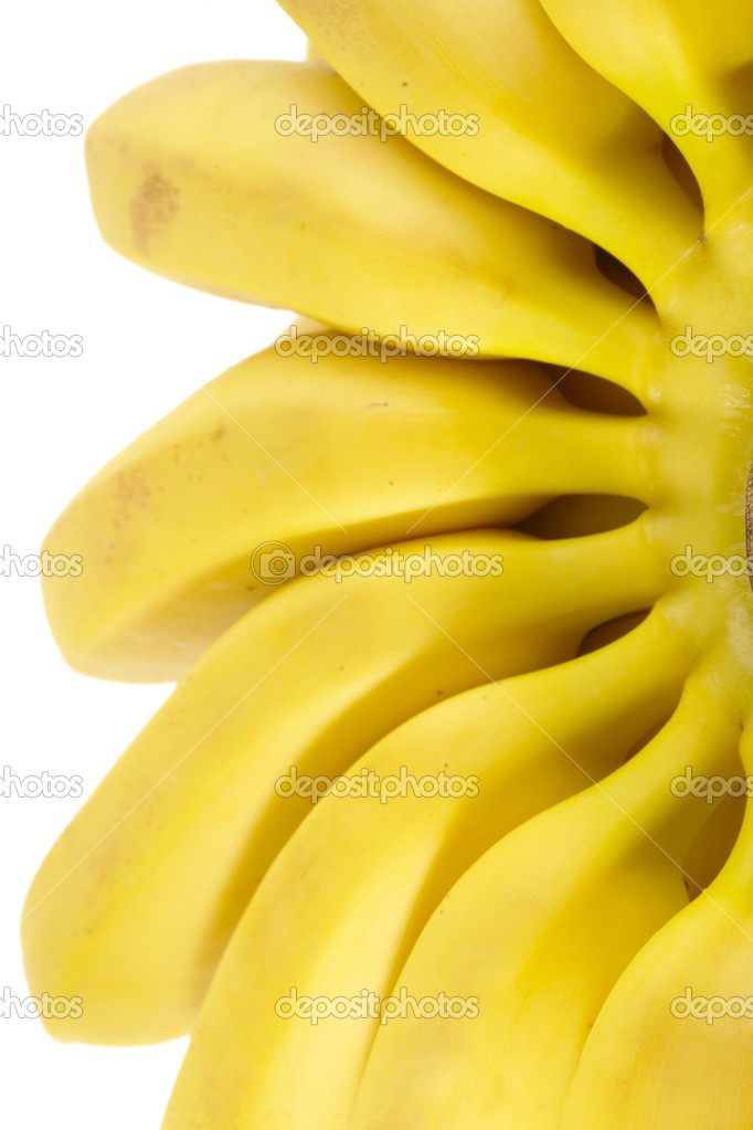 Bunch of Bananas. Isolated on white with clipping path — Stock Photo #1063899