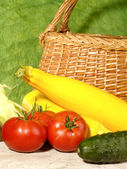 Fresh ripe vegetables still-life — Stock Photo