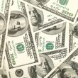 Stock Photo: Money background from hundred bucks bank