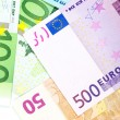 Money background from euro banknotes — Stock Photo