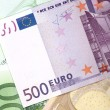 Money background from euro banknotes — Stock Photo #1191425