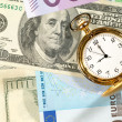 Stock Photo: Time to make money. Money background