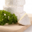 Royalty-Free Stock Photo: Camembert cheese with parsley on wooden