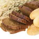 Delicious bread on white background — Stock Photo
