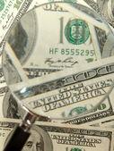 Money background from hundred bucks bank — Stock Photo
