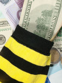 Bank at the socks. Money background — Stock Photo