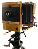 Vintage large format photo camera — Stock Photo