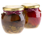 Home preserves over whte — Stock Photo