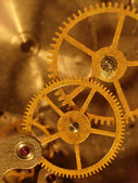 Closeup view of the old mechanism. Abstr — Stock Photo