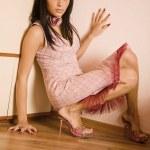 Zenske portrét. mladá a hezká — Stock fotografie