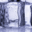 Ice cubes on the cool background. — Stock Photo