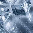 Ice with water droplets - Stock Photo