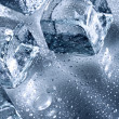 图库照片: Ice with water droplets
