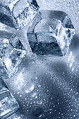Ice with water droplets — Stock Photo