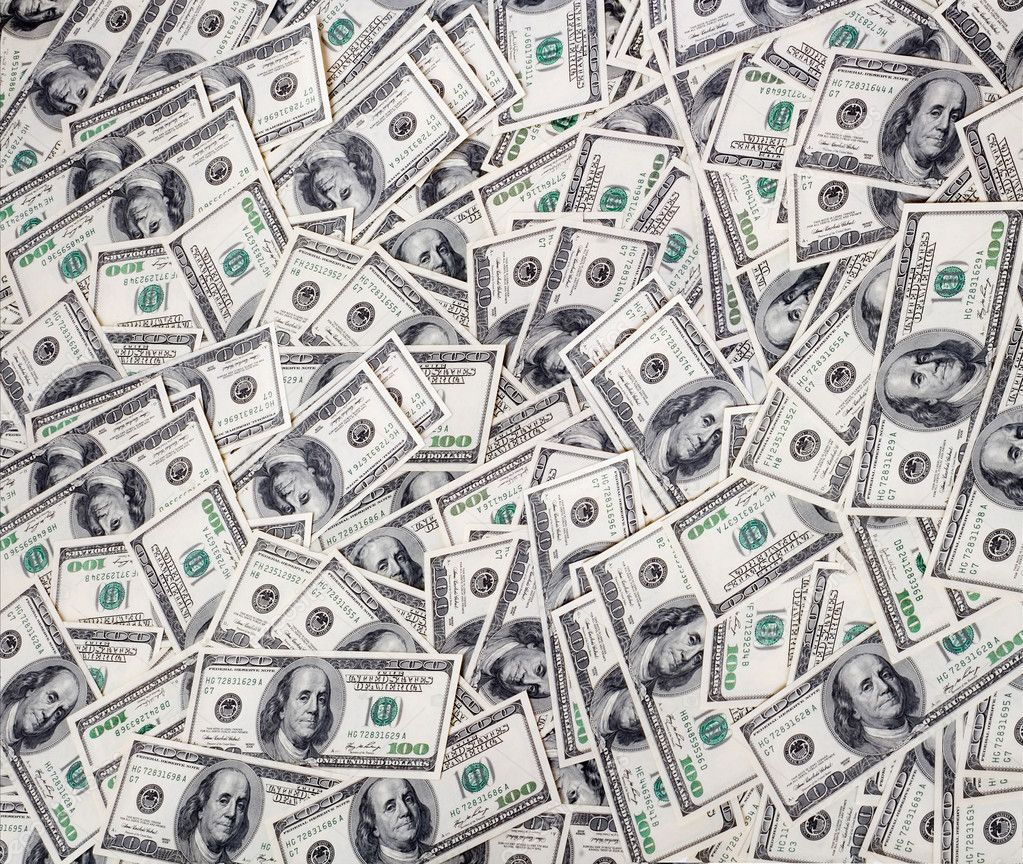 Big pile of money. stack of american dollars — Stock Photo #1012168