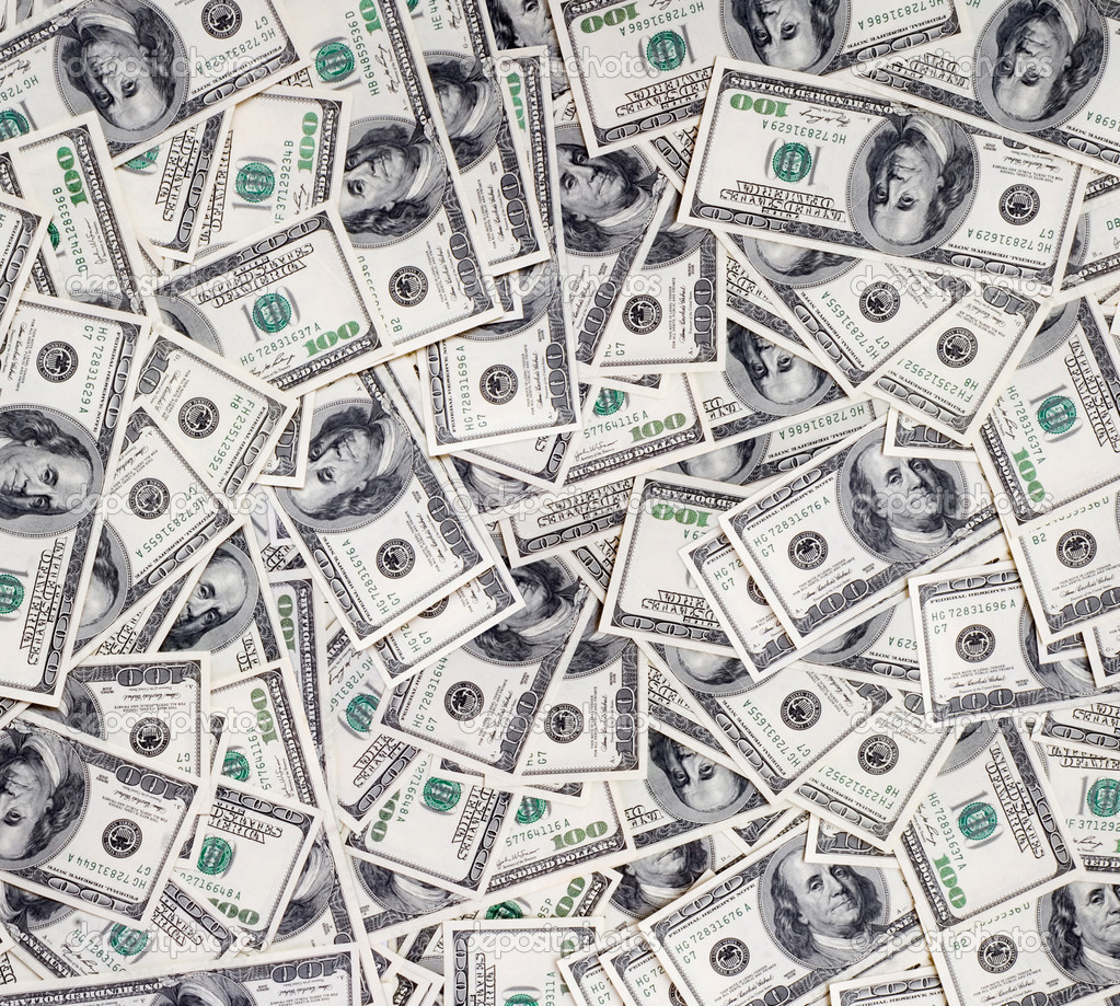 Big pile of money. stack of american dollars  Stock Photo #1014055