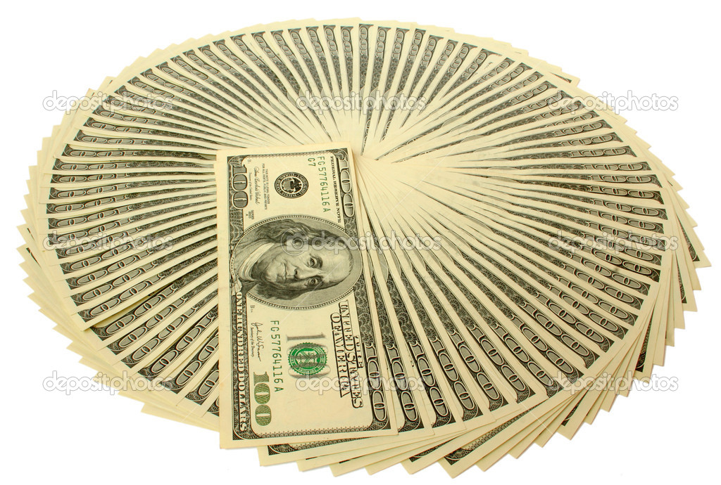 Big pile of money. stack of american dollars — Stock Photo #1015856