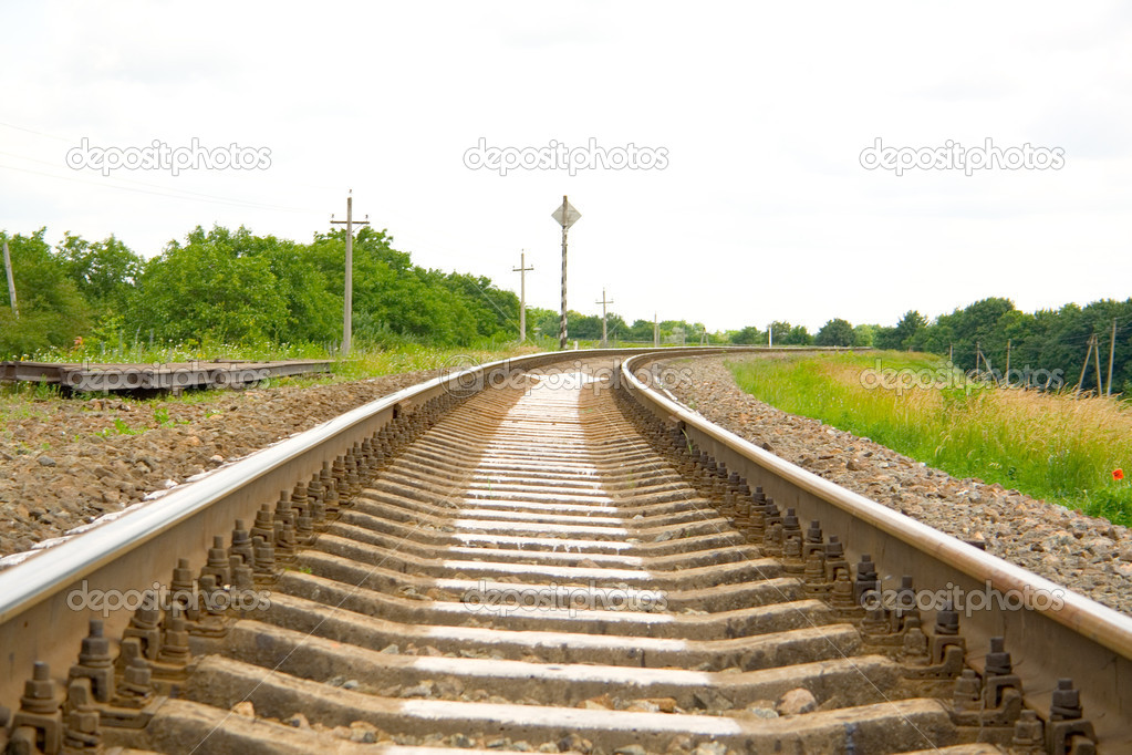 Railway track leading far onward — Stock Photo #1016983