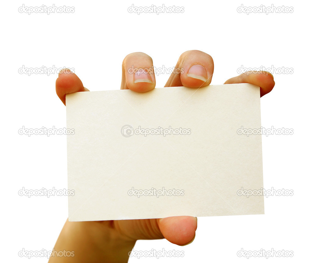 A card blank in a hand  Stock Photo #1023353