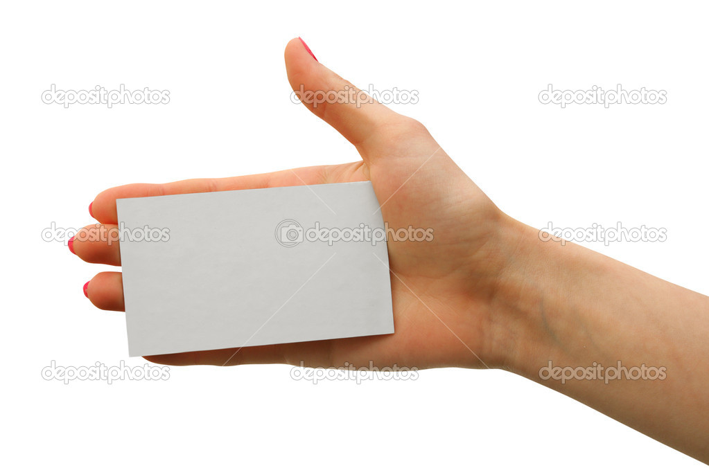 A card blank  in a hand — Stock Photo #1029498