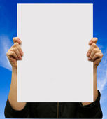 Card blank — Stock Photo