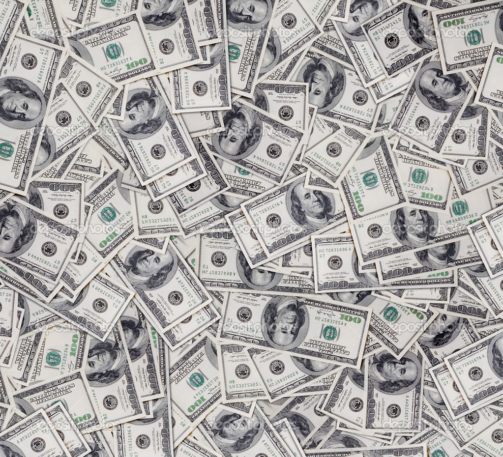 Big pile of money. stack of american dollars — Foto Stock #2046295