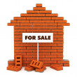 Brick house for sale - Stock Photo