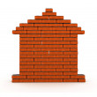 Brick house — Stock Photo