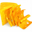 Cheese sliced - Foto de Stock