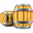 Wooden barrel for wine and beer storage — Stock Photo