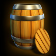 Wooden barrel for wine and beer storage — Stock Photo #1013983