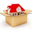 Royalty-Free Stock Photo: New house in box