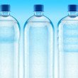 Misted plastic bottles with fresh clear — Stock Photo #1014038