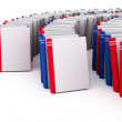 Red and blue books with blank covers — Stock Photo