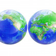 Planet earth world map globe - Stock Photo