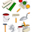 Royalty-Free Stock Photo: Collection of isolated working tools for house repairing