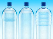 Misted plastic bottles with fresh clear — Stock Photo